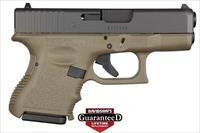 GLOCK 10 + 1 ROUND DOUBLE ACTION ONLY 9MM W/FIXED SIGHTS & OLIVE DRAB FINISH PI2657201 PI2657201