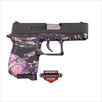 "Diamondback Db9mg Db9 Micro-Compact Single/Double 9Mm Luger 3"" 6+1 Muddy Girl Polymer Grip Black DB9MG"