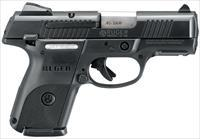 "Ruger 3479 Sr40c Compact Double 40 Smith & Wesson (S&W) 3.5"" 9+1 Black Polymer Grip Black 3479"