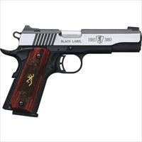 "Browning Black Label Medallion Pro 1911 .380Acp 4.25""Night Sights 51914492"