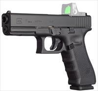 "Glock Pg1750203mos G17 Gen4 Mos Double 9Mm Luger 4.48"" Fs 17+1 Black Interchangeable Backstrap Grip Black PG1750203MOS"