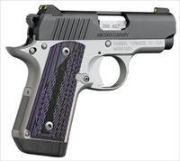 Kimber Micro Carry Advocate purple/black grips .380 ACP
