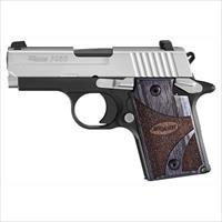 "Sig Sauer P938 9Mm  3"" Night Sight 6-Sh Two-Tone Blackwood 9389BGAMBI"