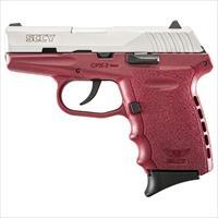 Sccy Industries, Llc Cpx2-Tt Pistol Dao 9Mm 10Rd Ss/Crimson W/O Safety CPX 2TTCR