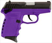 "Sccy Industries Cpxicbpu Cpx-1 Double 9Mm 3.1"" 10+1 Purple Polymer Grip/Frame Grip Black Nitride Stainless Steel CPX1-CBPU"