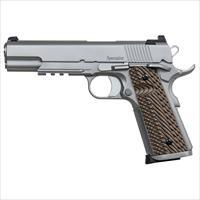 "Dan Wesson 01893 1911 Specialist Single 9Mm 5"" 10+1 Brown Vz Operator Ii G10 Grip Stainless 01893"