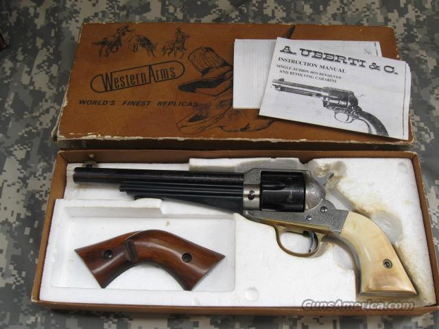 EARLY EMF 1875 REMINGTON 45LC, ENGRAVED WITH IVORY GRIPS