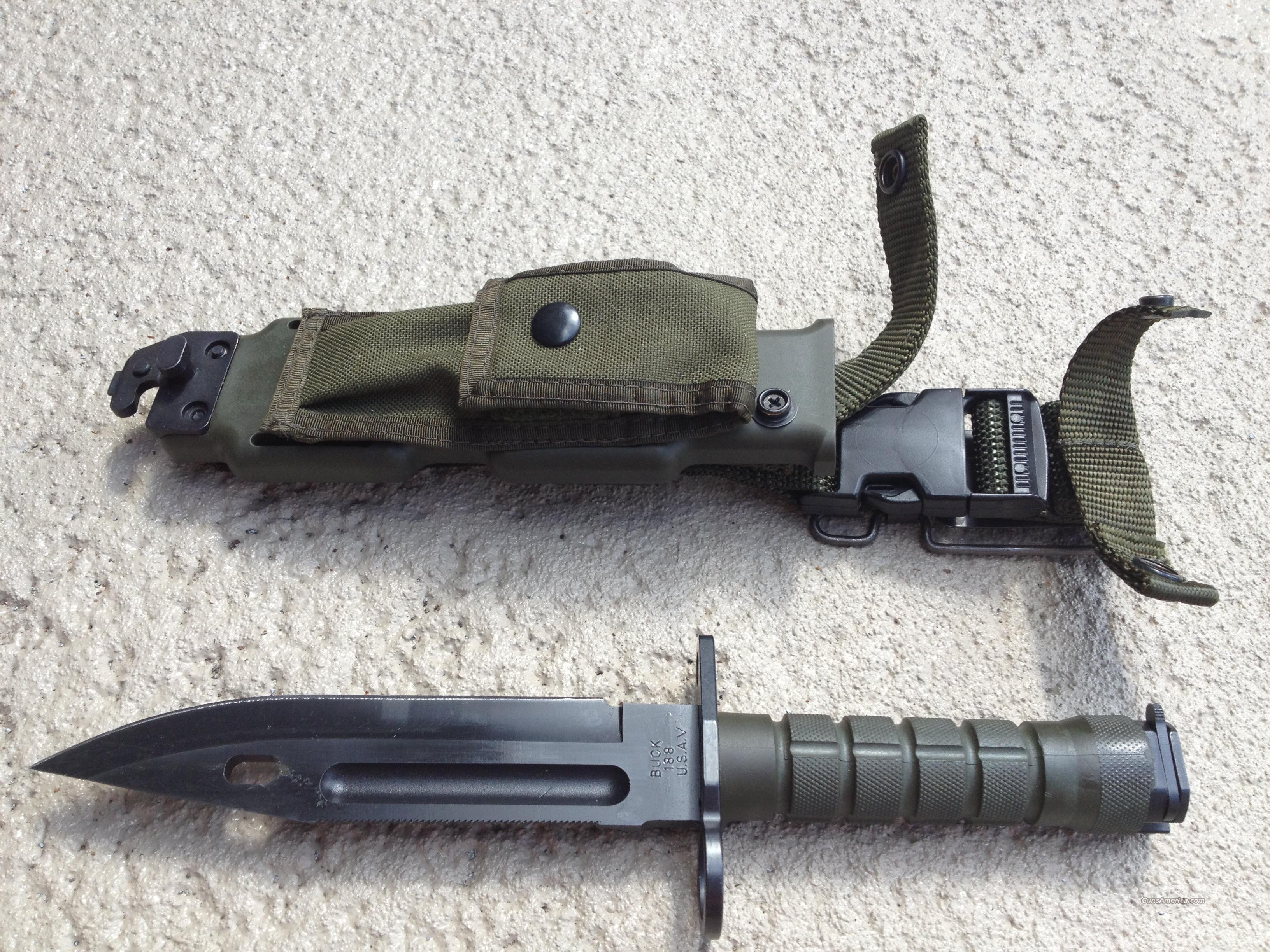 BUCK PHROBIS III M9 BAYONET FIGHTING KNIFE W/ SHEATH