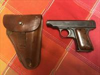 1920's German Ortgies Deutsche Werk 6.35mm pistol w/holster
