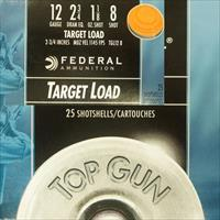 Federal Top Gun Target Lead 12 Ga #8 2-3/4