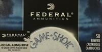 Federal Game Shok 22 LR 40 Grain Copper Plated 710
