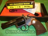 "Unfired Colt Diamondback 4"" Blue Complete 38 Cal."