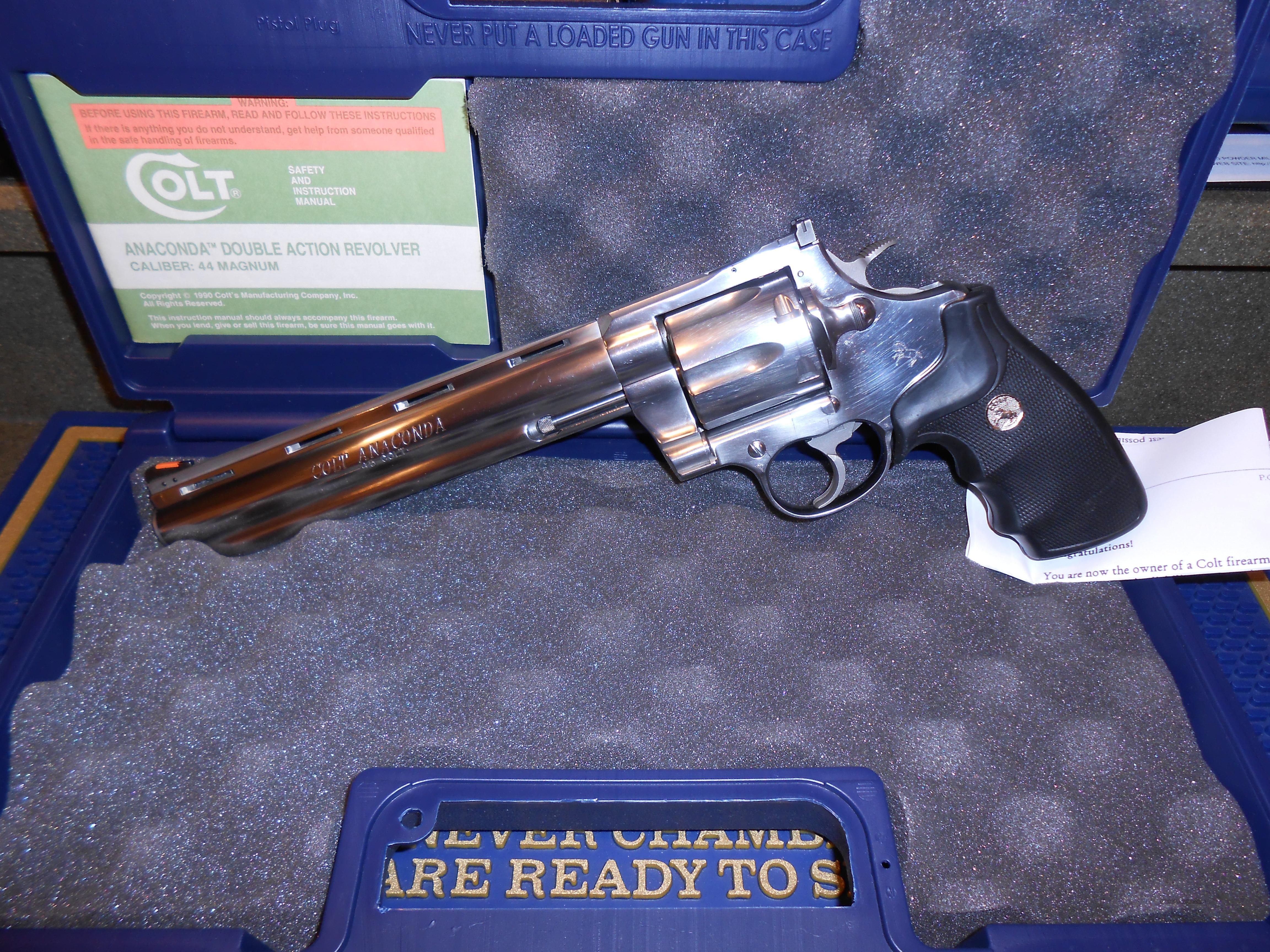 Rare Colt Anaconda 45 Cal  8