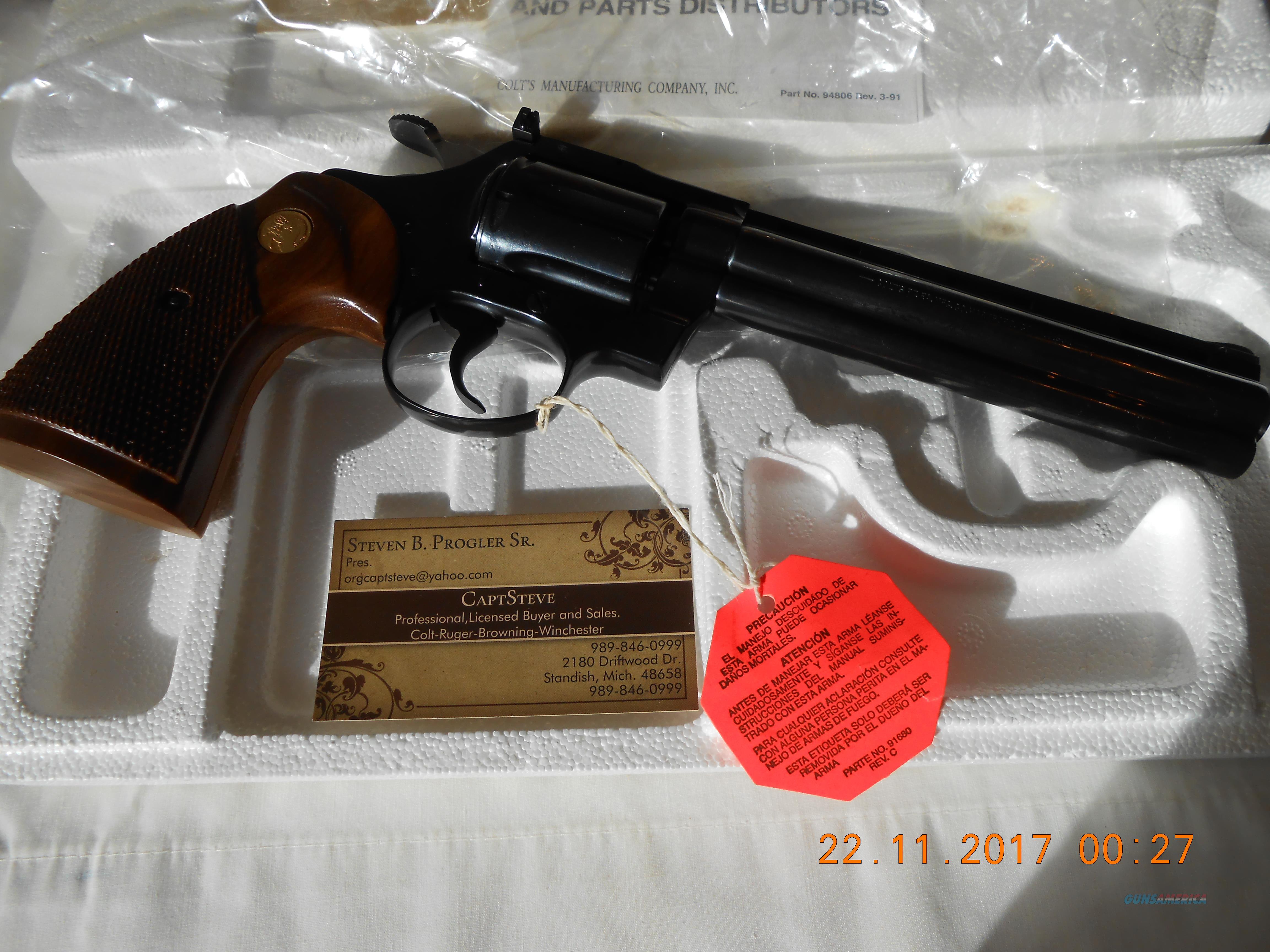 NOS Colt Diamondback Blue 22 LR  Complete 6