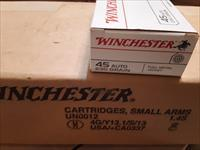 45 Auto 230 gr FMJ  Winchester 500 rds