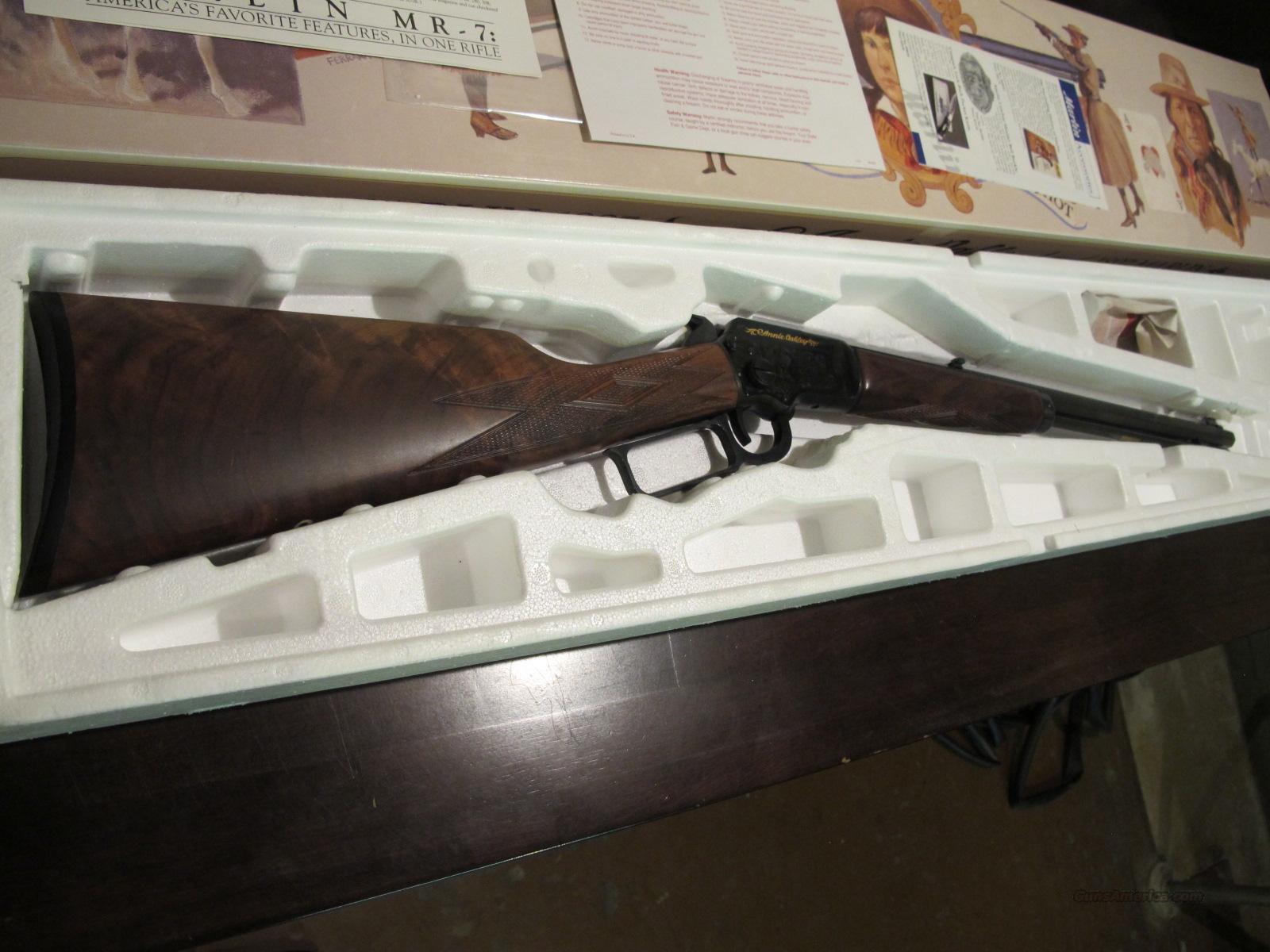 Marlin Rifle 22 Cal  Model 39a Golden Annie Oakley Edition