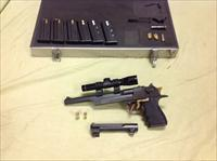 Desert Eagle 50AE with 44 mag barrel and Leupold scope