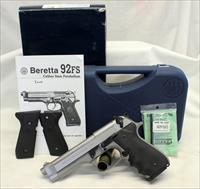 Beretta Model 92FS INOX semi-automatic pistol ~ Stainless ~ 9mm ~ Original Box, Manual & (2) Magazines