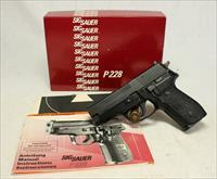 German Sig Sauer P228 FIRST YEAR PRODUCTION semi-auotmatic pistol ~ BOX, PAPERS, EXTRA MAG