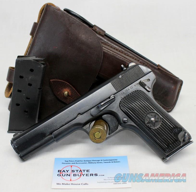 Russian TT33 semi-automatic pistol ~ 7.62x25mm ~ HOLSTER, Cleaning Rod and  (2) Magazines