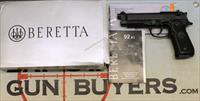 Beretta Model 92A1 semi-automatic pistol ~ 9mm ~ BOX & PAPERS