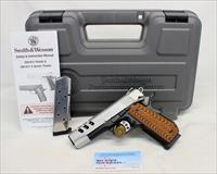 Smith & Wesson PERFORMANCE CENTER 1911 semi-automatic pistol ~ .45ACP ~ Porter Barrel ~ Custom Grips ~ BOX & MANUAL!