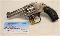 Smith & Wesson SAFETY HAMMERLESS revolver ~ .32 s&w ~ LEMON SQUEEZER / NEW DEPARTURE ~ Nickel
