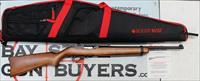 Ruger 10/22 semi-automatic rifle ~ .22 LR ~ CLASSIC WOOD STOCK ~ Ruger Padded Case / Manual
