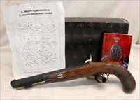 Pedersoli CHARLES MOORE Dueling Pistol ~ Blackpowder Percussion ~ .45 Cal ~ UNFIRED IN ORIGINAL BOX