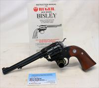Ruger New Model BISLEY Single Six Revolver ~ .22LR ~ MANUAL ~ 1986 Mfg.