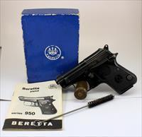 "Beretta Model 950 BS semi-automatic pistol ~ .25ACP ~ ""Jetfire"" ~ BOX & MANUAL INCLUDED"