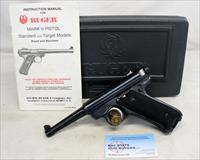 Ruger MKII semi-automatic target pistol ~ .22LR ~ Manual & Hard Case