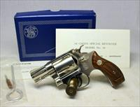 Smith & Wesson Model 36 NICKEL Chiefs Special ~ UNFIRED IN ORIGINAL BOX ~ NO Dash