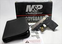 Smith & Wesson BODYGUARD 380 semi-automatic pistol ~ .380ACP ~ TWO TONE ~ ENGRAVED ~ Box, Extra Mag & Manual
