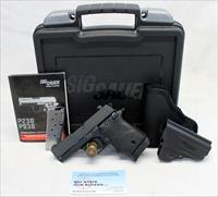 Sig Sauer P938 semi-automatic subcompact pistol ~ 9mm ~ Case, Manual, Magazines & Holsters