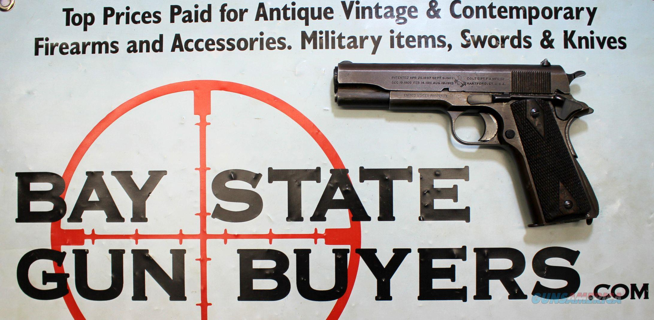 WWI COLT 1911 Military Issue Pistol .45acp (191... for sale