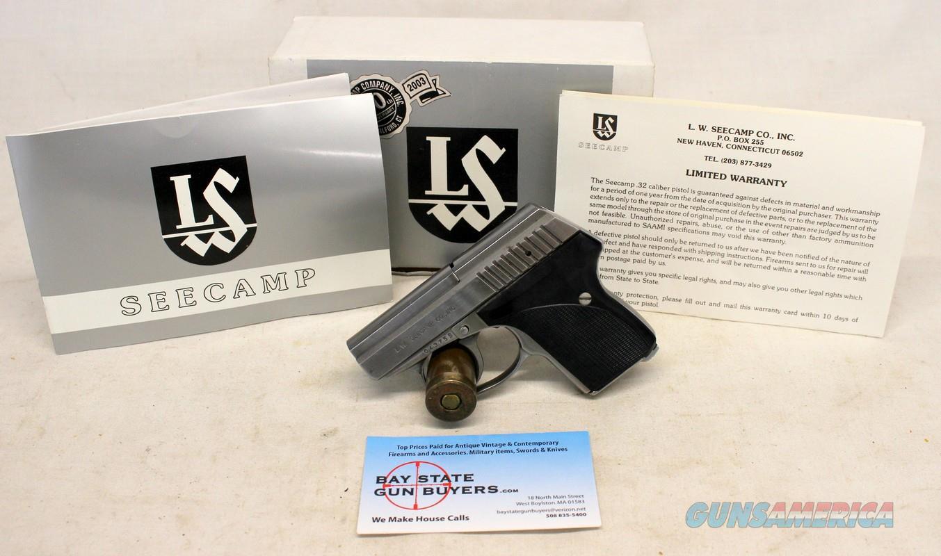 LW Seecamp LWS-32 semi-automatic pistol ~  32ACP ~ ORIGINAL 30th  ANNIVERSARY BOX [NO MASS SALES]