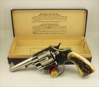 "RARE Colt OFFICER'S MODEL Target Revolver ~ .38spl ~ 4"" Barrel ~ NICKEL FINISH ~ 98%"
