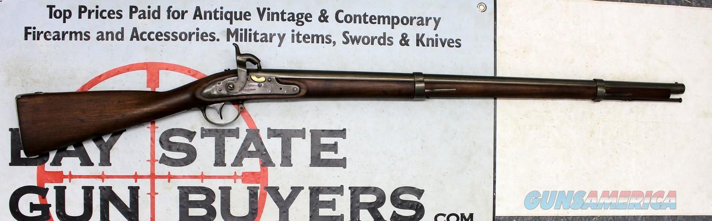 ASA WATERS Percussion Conversion MODEL 1816 Rifle ~ MILLBURY, MA (1827) ~   69 Cal Musket