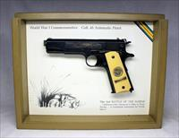 Colt 1911 WWI Commemorative 2nd BATTLE OF THE MARNE Semi-automatic pistol ~ .45 ACP ~ Display Box