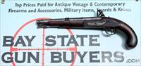 U.S. Model 1819 SIMEON NORTH Flintlock Pistol dated 1822 - .54 Caliber - ORIGINAL MARTIAL PISTOL