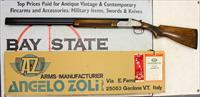 "Angelo ZOLI Airone O/U Shotgun ~ 20 Ga. ~ 28"" Barrels ~ FULL/MOD ~ Original Box & Certificate"
