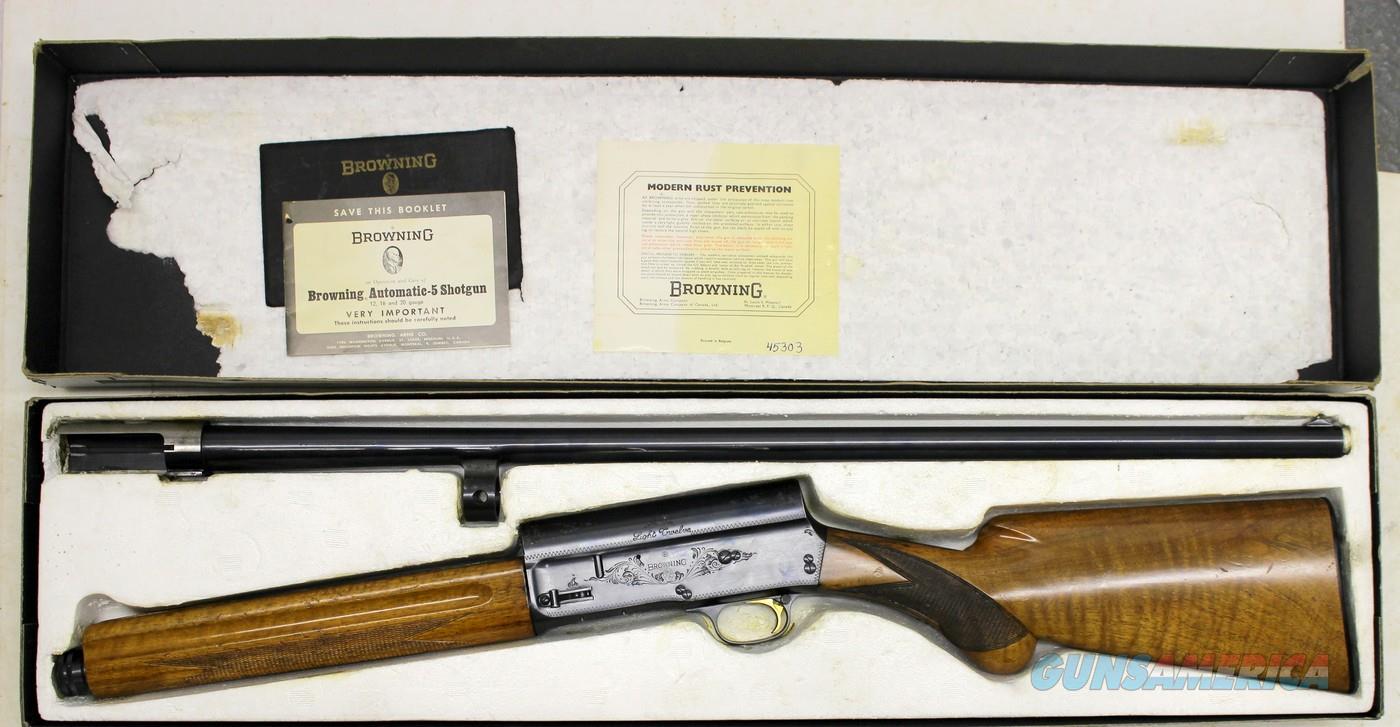 Browning A5 LIGHT TWELVE semi-automatic shotgun ~ 12 Ga ~ FULL Choke ~  ORIGINAL BOX & MANUAL