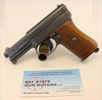 Mauser MODEL 1910 semi-automatic pistol ~ .25ACP ~ C&R Eligible ~ HIGH CONDITION