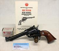 Ruger New Model SINGLE SIX CONVERTIBLE Single Action Revolver ~ .22 / .22 Win. Mag Calibers