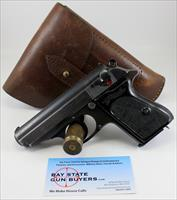 WALTHER PPK semi-automatic pistol ~ 7.65mm (.32ACP) ~  6th Variation,