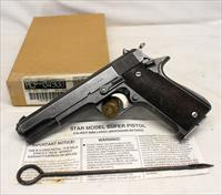 STAR Modelo Super semi-automatic pistol ~ 9mm Largo ~ BOX, MANUAL & CLEANING ROD