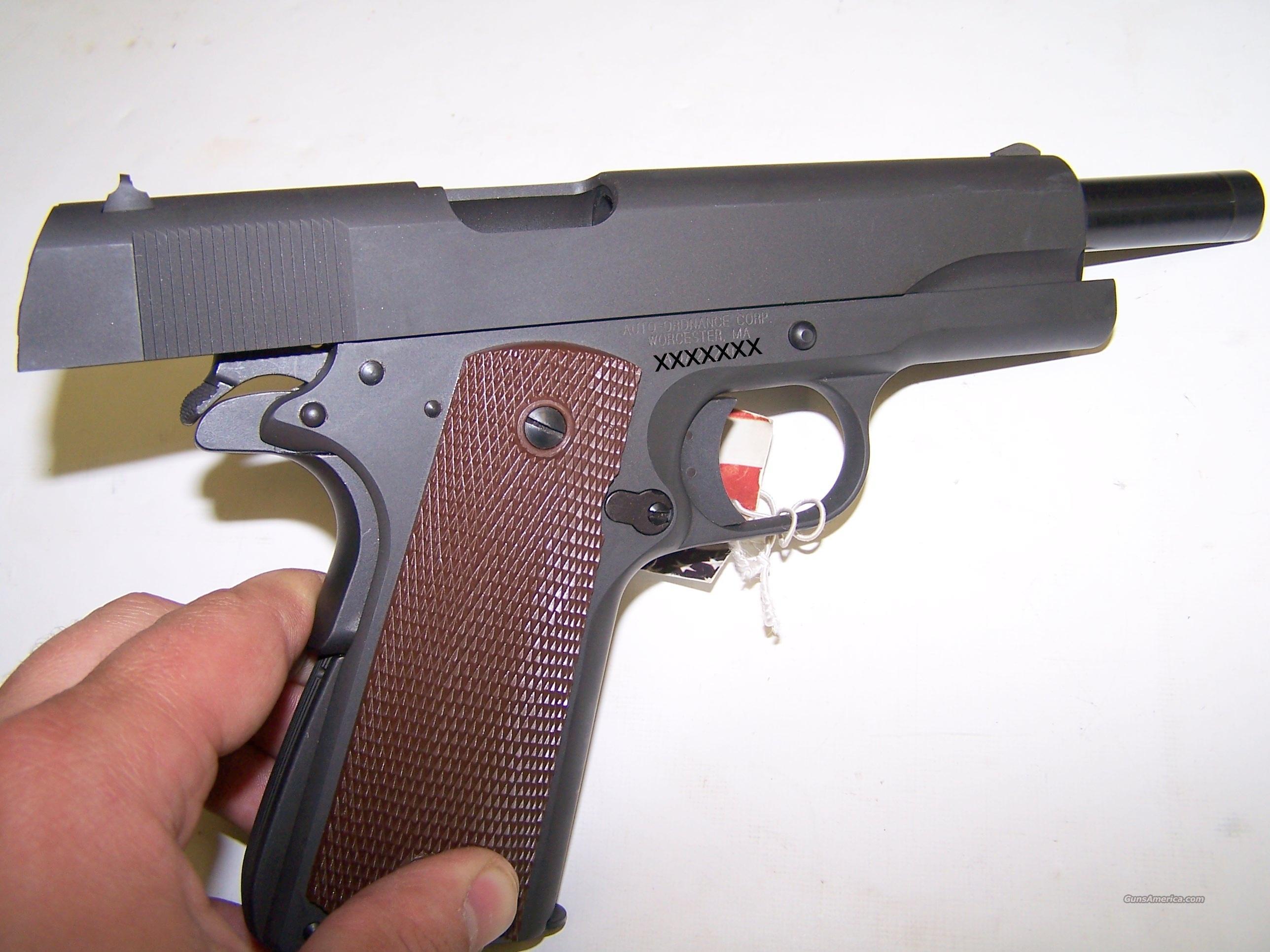A1 Auto Sales >> Auto Ordnance 1911 A1 U.S. Army pistol .45 ACP ... for sale