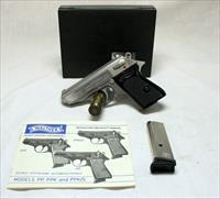 Walther PPK semi-automatic pistol ~ 9mmKurz (.380Acp) ~ STAINLESS w/ Box, Papers (2) Mags