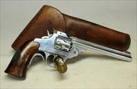 Iver Johnson SUPERSHOT SEALED EIGHT Revolver TARGET PISTOL .22LR ~ Factory Chrome Finsih